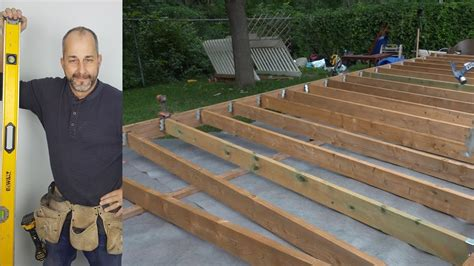 Build Ground Level Deck Video